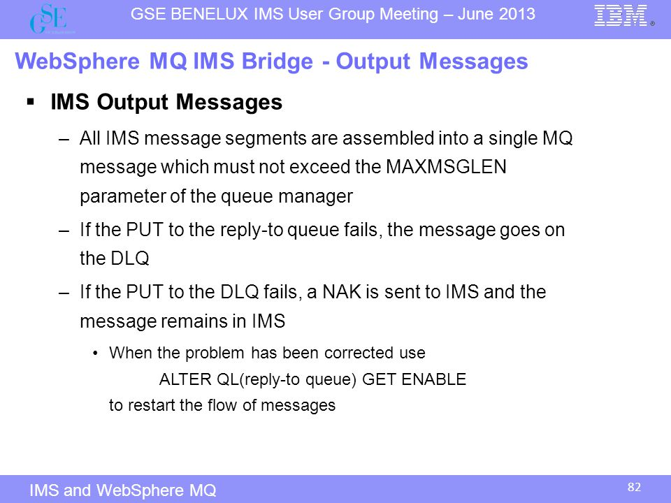 WebSphere MQ IMS Bridge - Output Messages