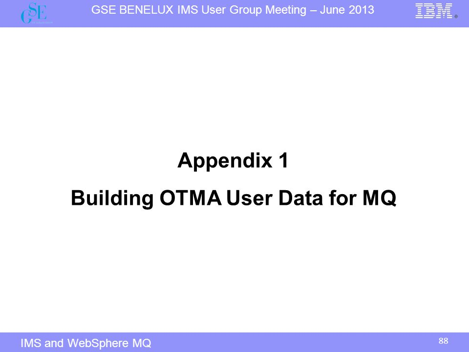 Building OTMA User Data for MQ