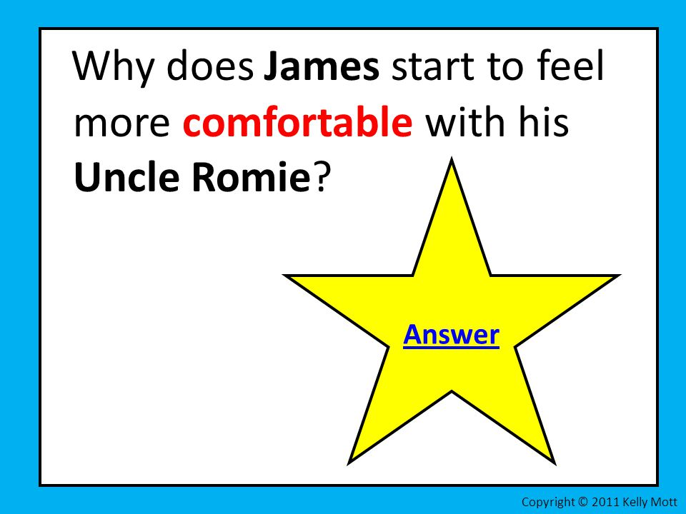 Why does James start to feel more comfortable with his Uncle Romie