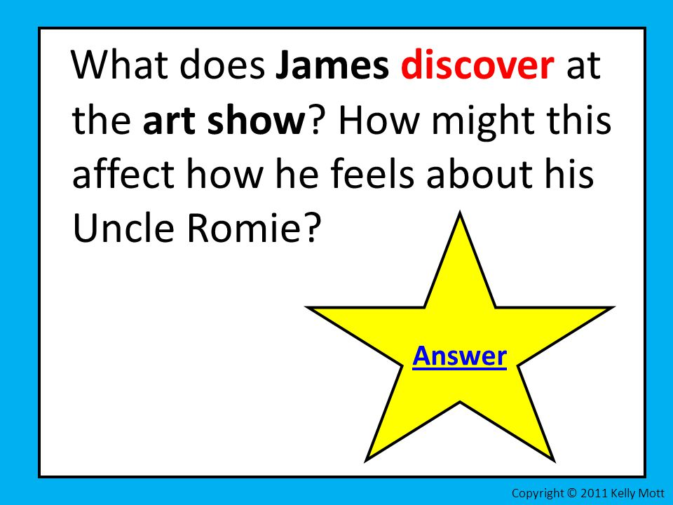 What does James discover at the art show