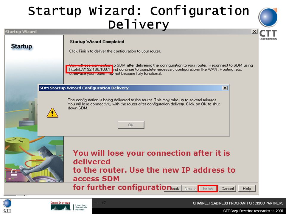 Startup Wizard: Configuration Delivery
