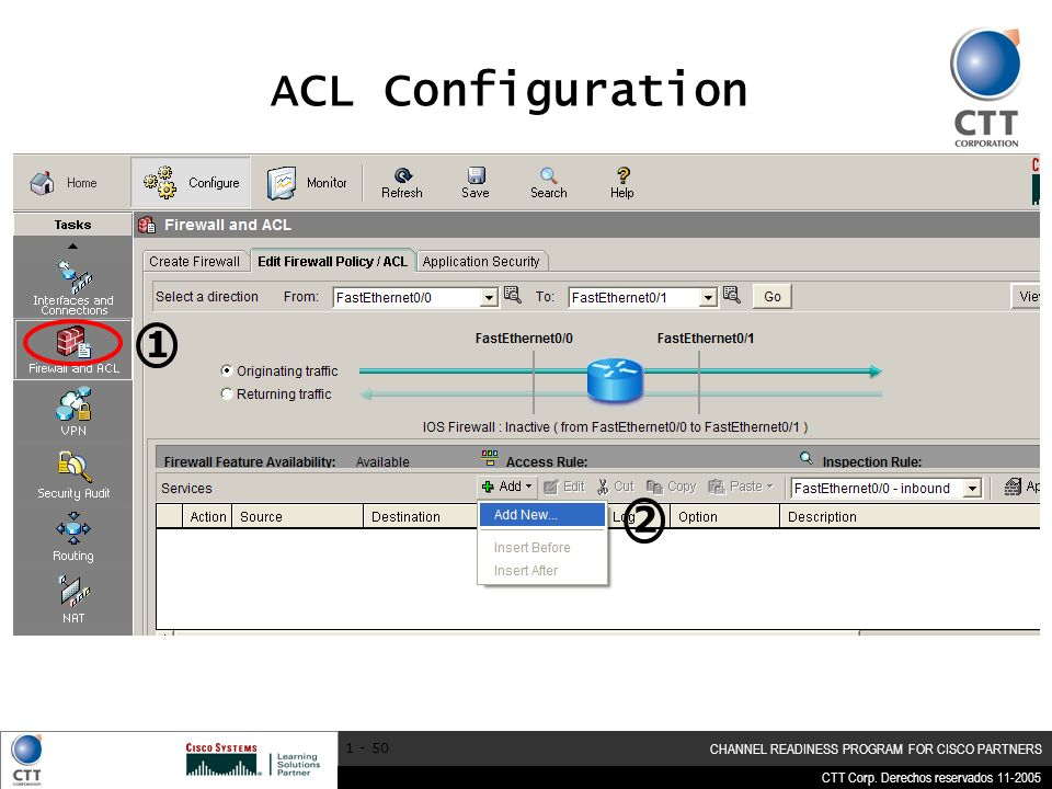 ACL Configuration 1 2