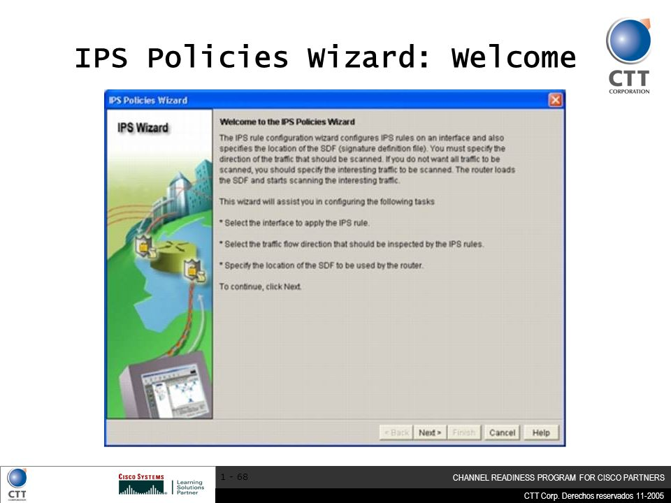 IPS Policies Wizard: Welcome