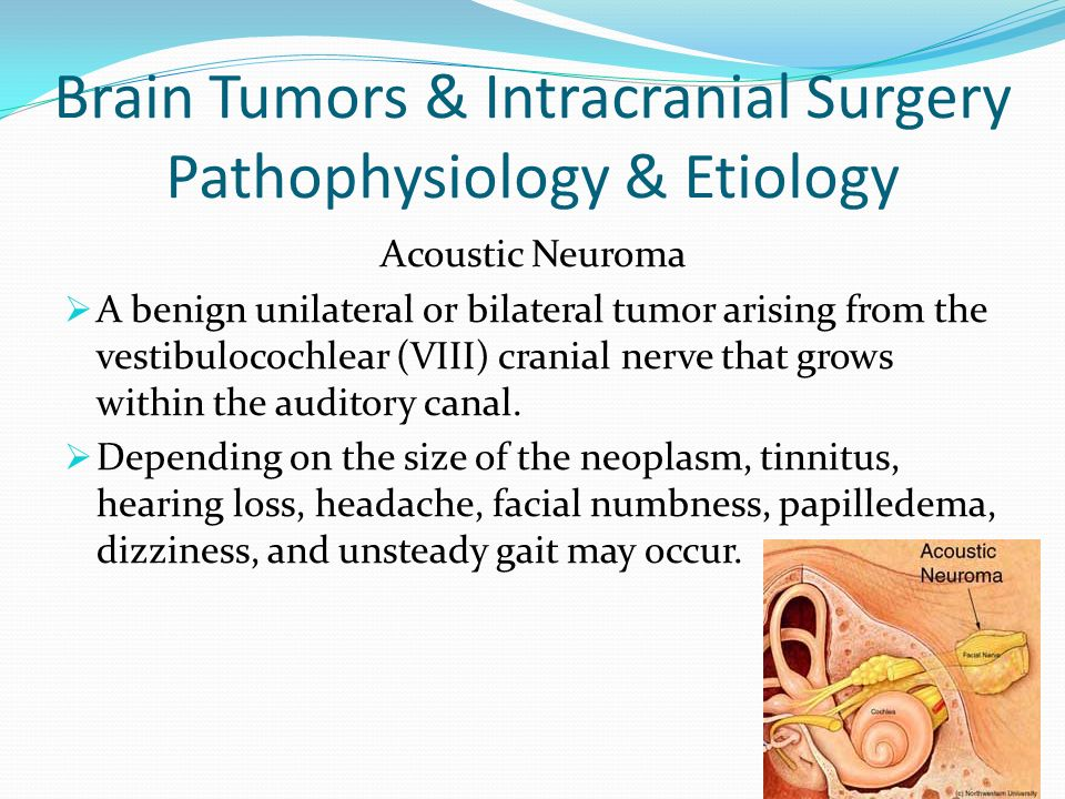 Brain Tumors & Intracranial Surgery Pathophysiology & Etiology