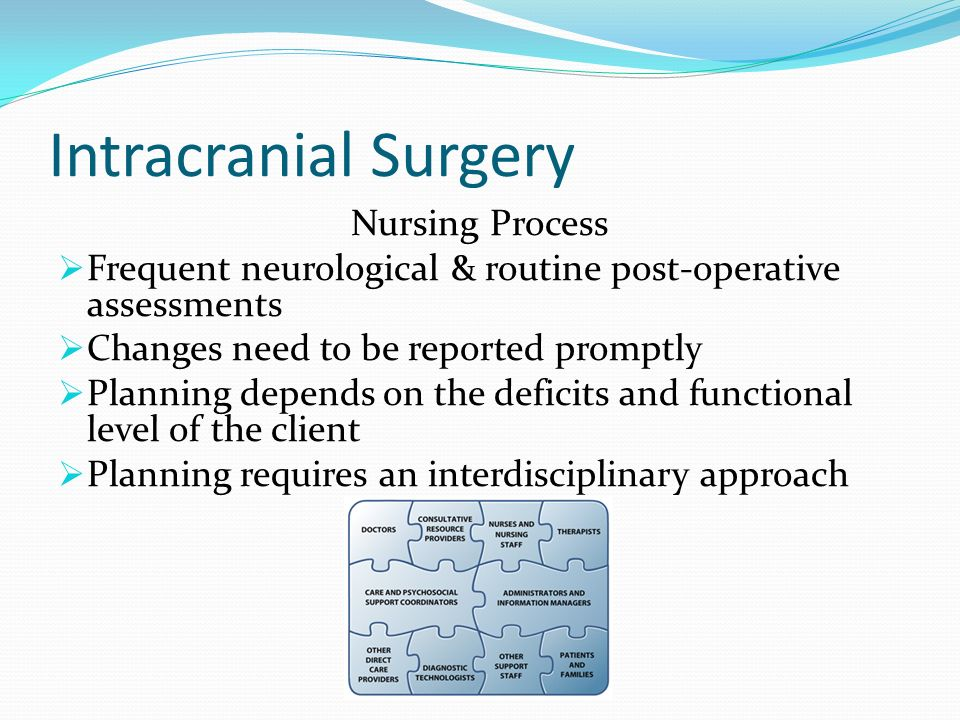 Intracranial Surgery Nursing Process