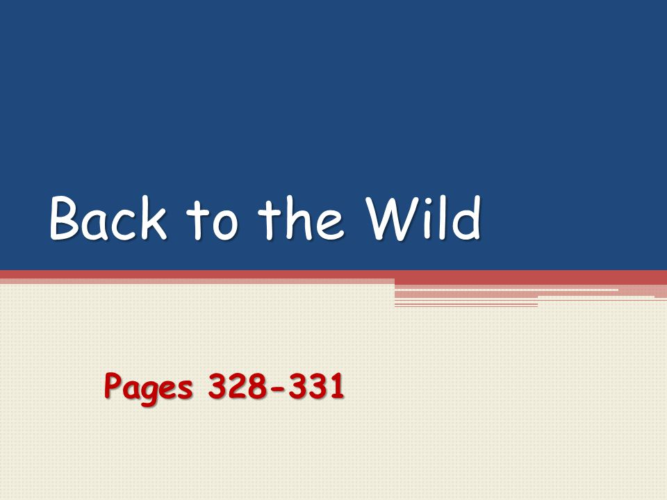 Back to the Wild Pages 328-331