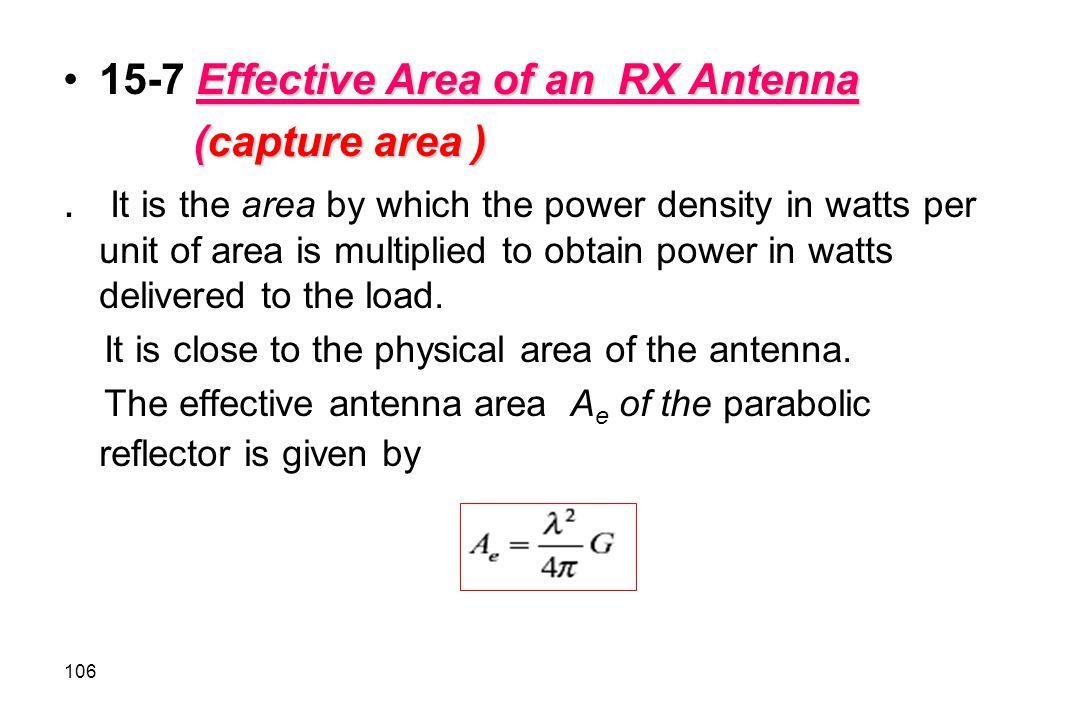 15-7 Effective Area of an RX Antenna (capture area )
