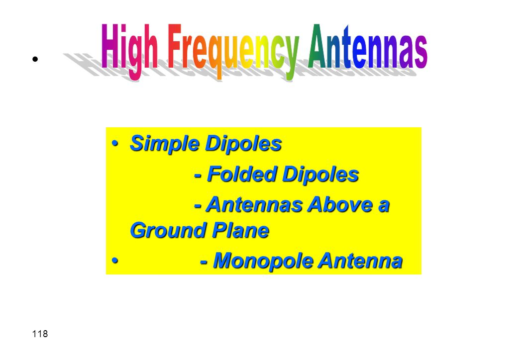 High Frequency Antennas