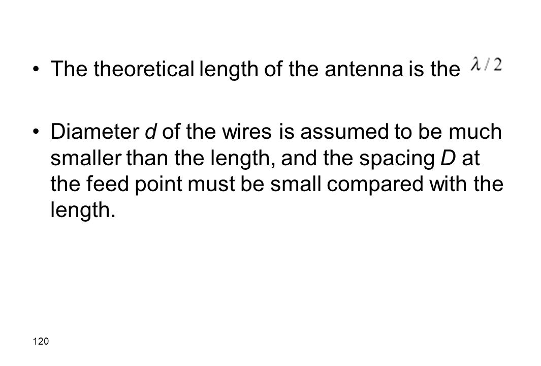 The theoretical length of the antenna is the