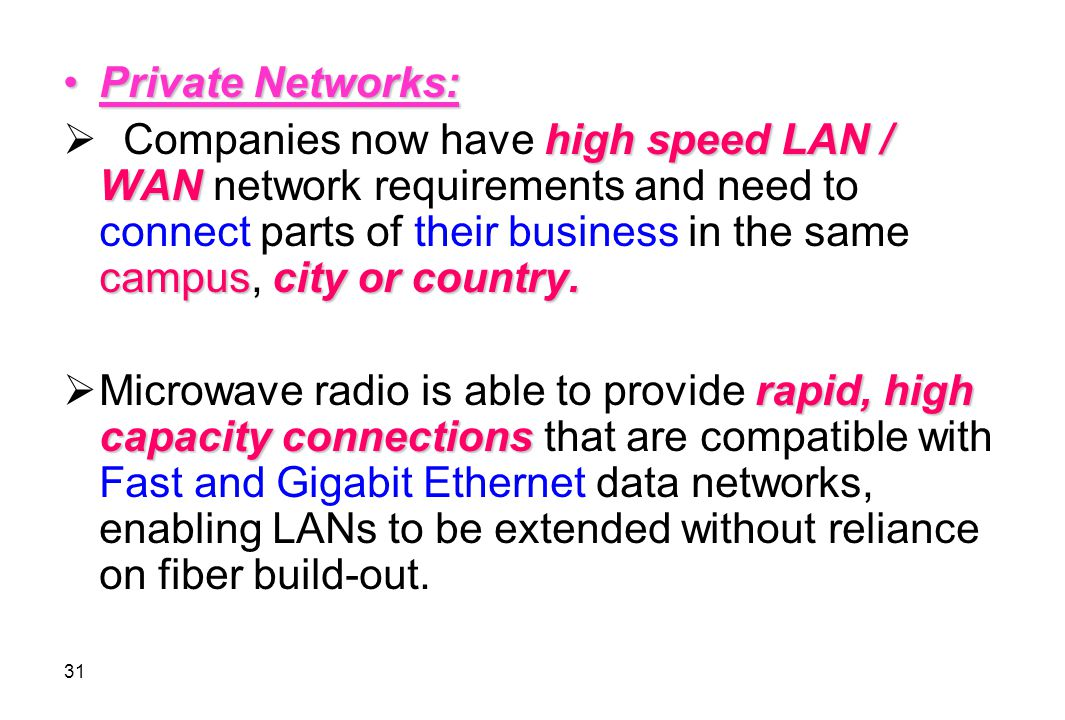 Private Networks: