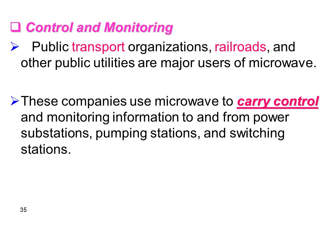 Control and Monitoring