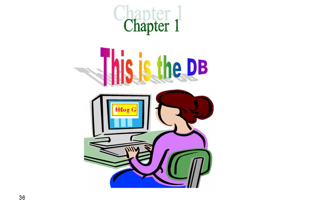 Chapter 1 This is the DB