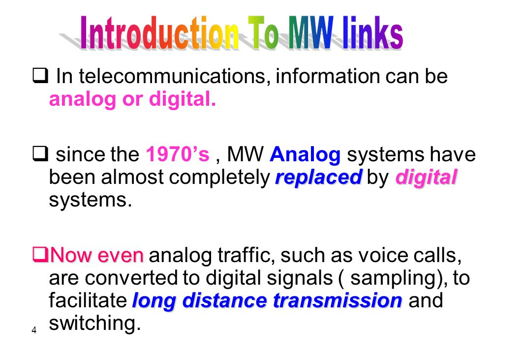 Introduction To MW links
