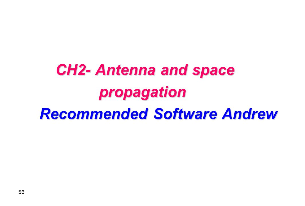 Recommended Software Andrew