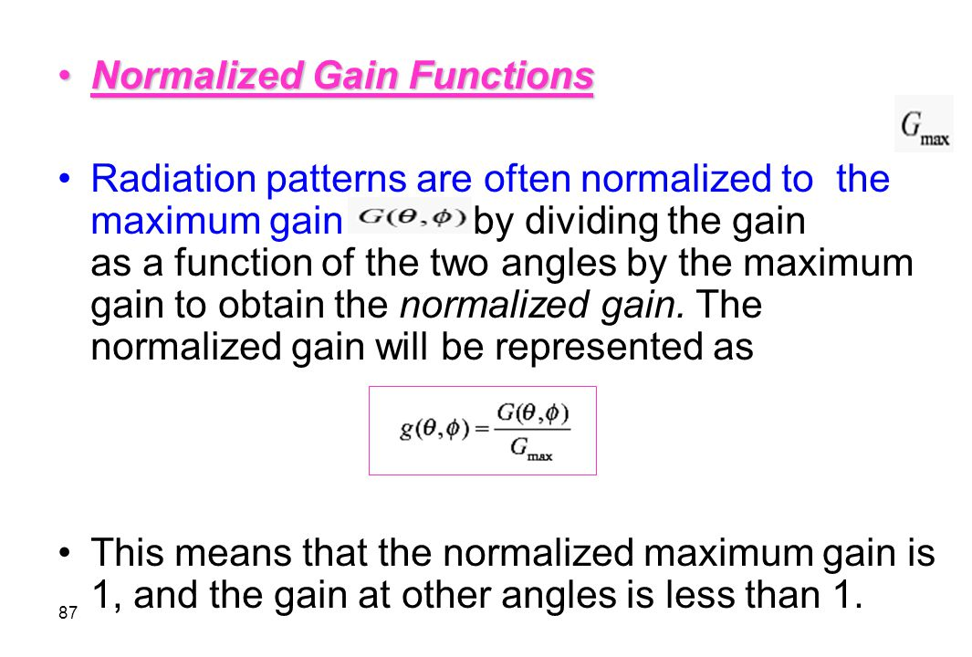 Normalized Gain Functions