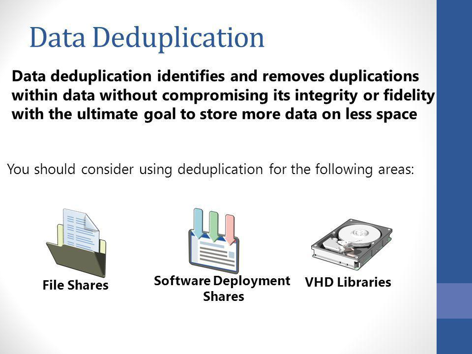 40005B Data Deduplication. 2: Storage and Networking in Windows Server 2012.
