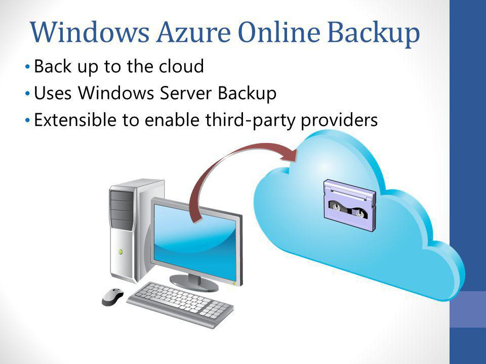 Windows Azure Online Backup