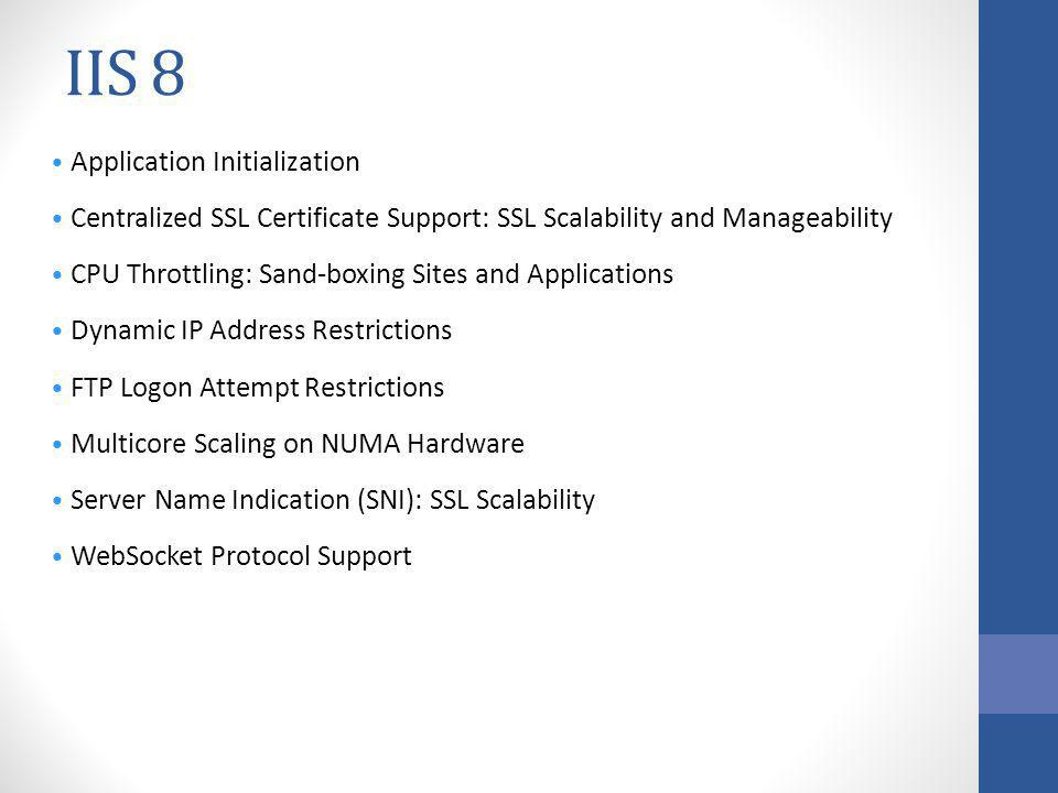 IIS 8 Application Initialization