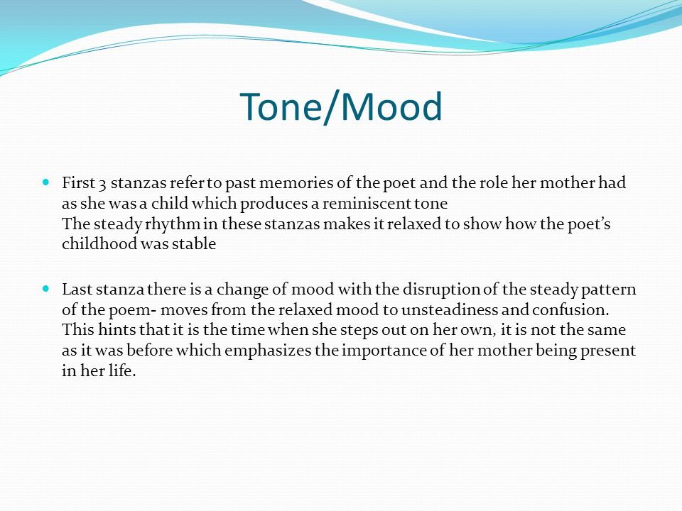 Tone/Mood