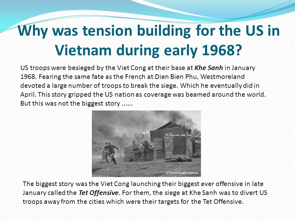 Why was tension building for the US in Vietnam during early 1968