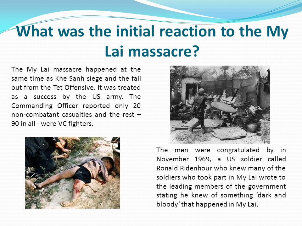 What was the initial reaction to the My Lai massacre