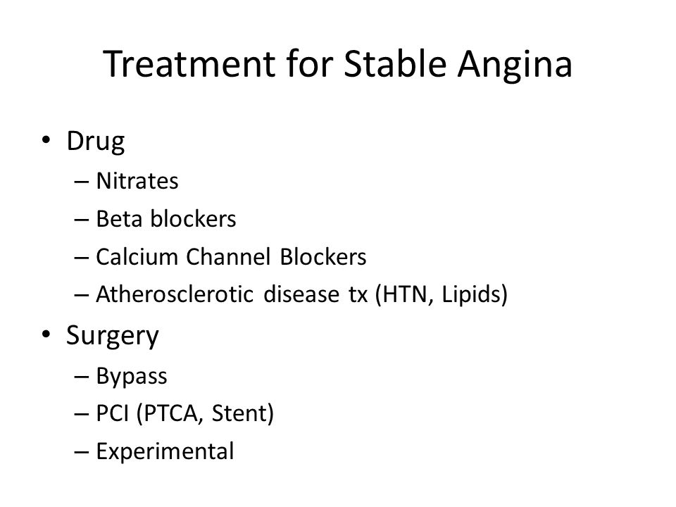 Treatment for Stable Angina