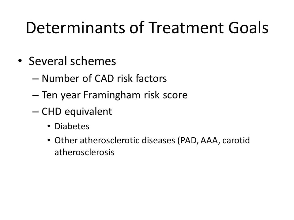 Determinants of Treatment Goals