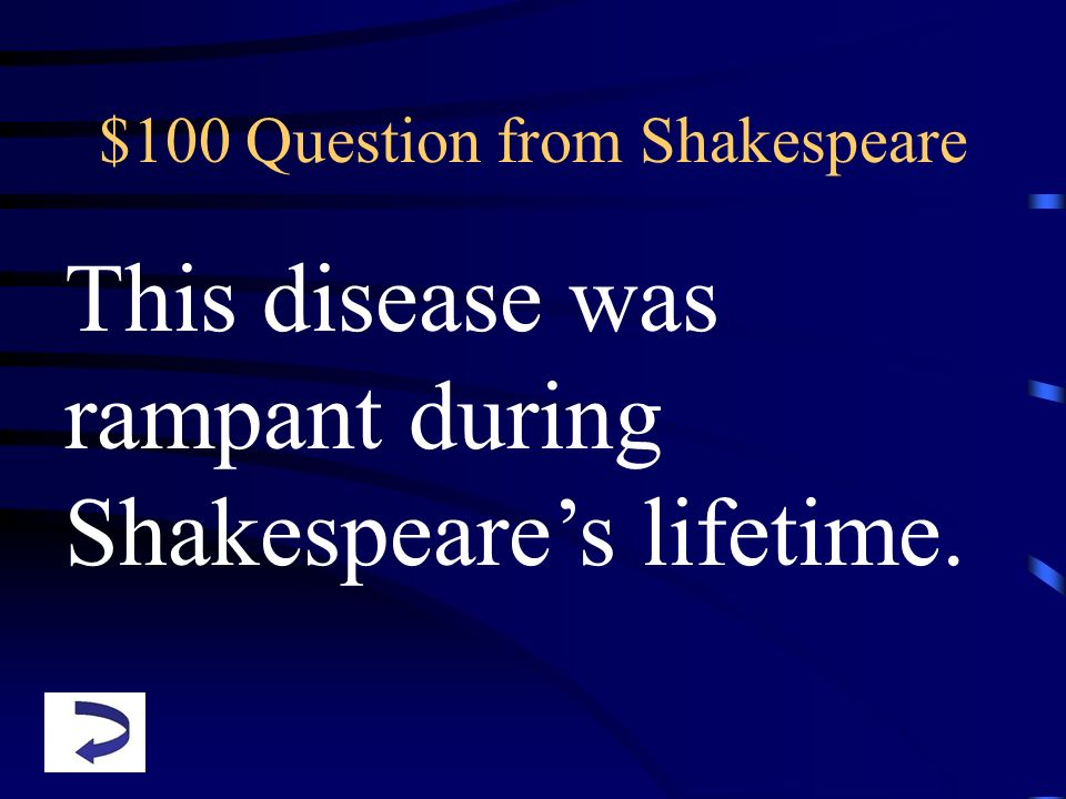 $100 Question from Shakespeare