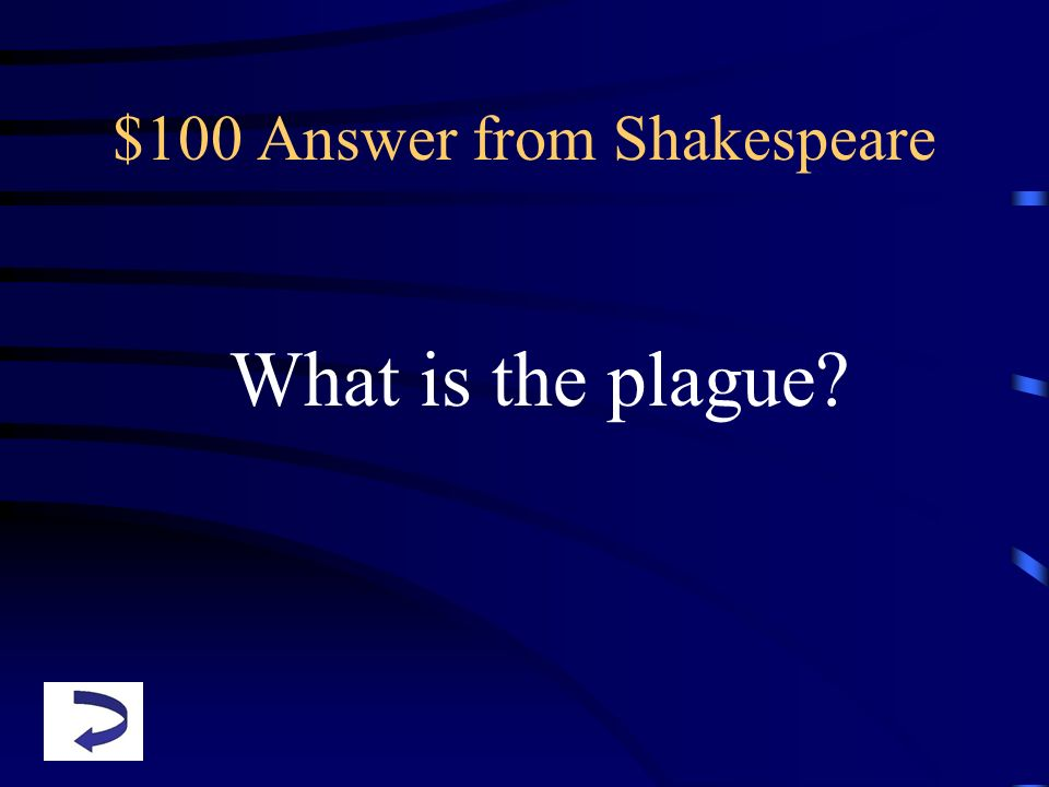 $100 Answer from Shakespeare