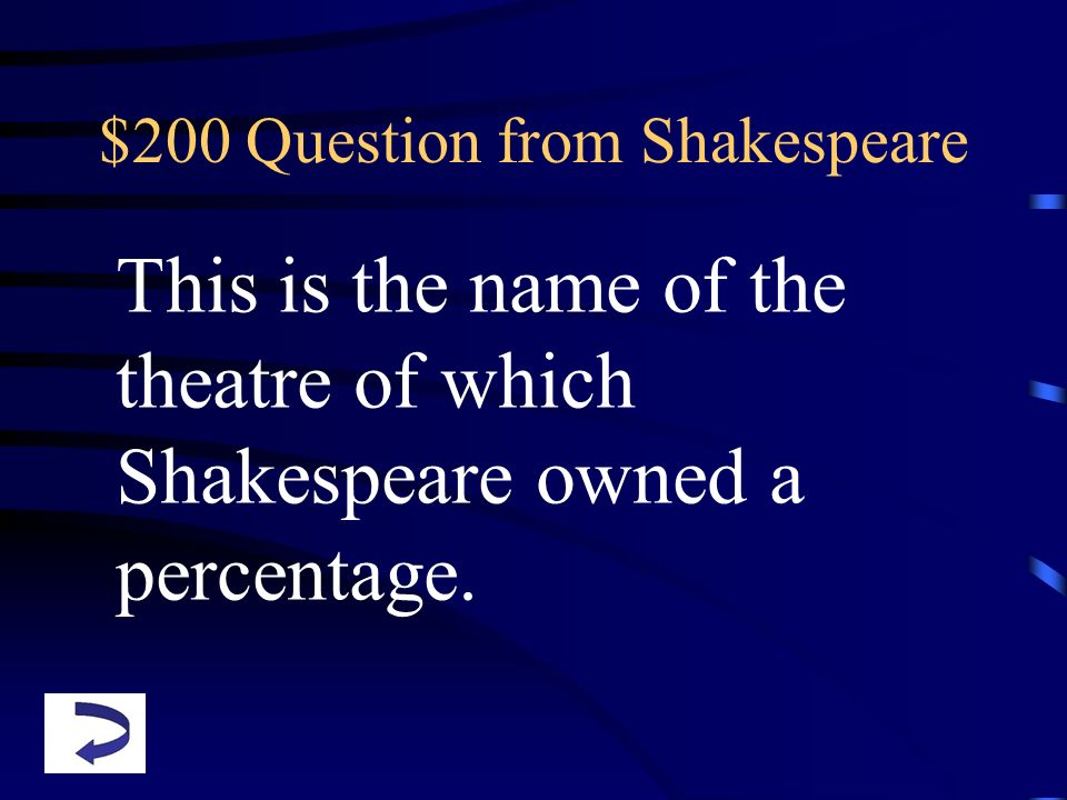 $200 Question from Shakespeare