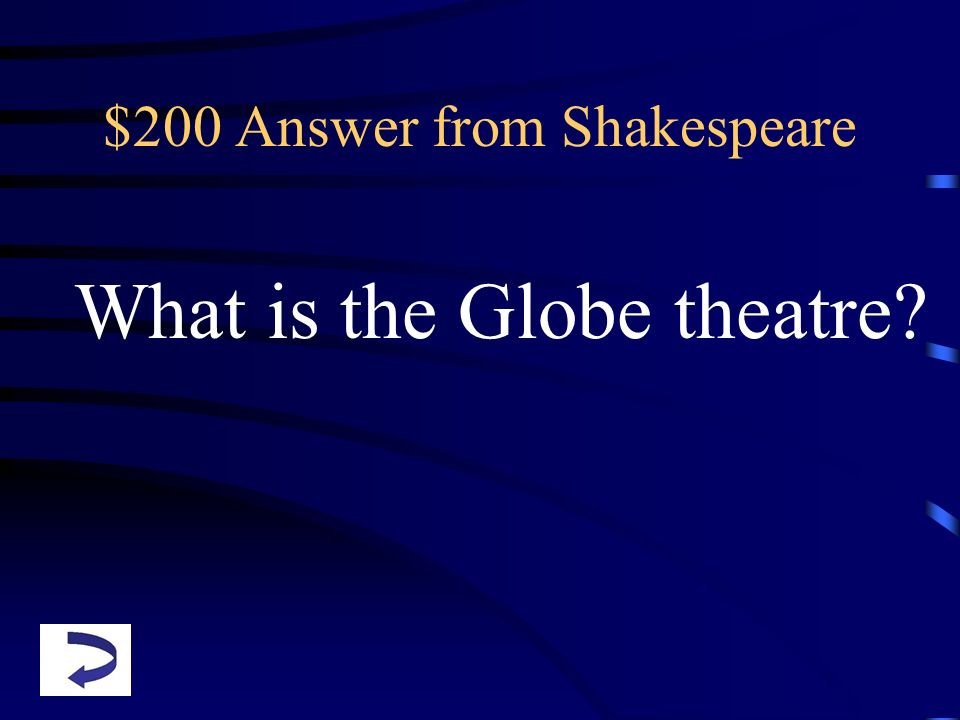 $200 Answer from Shakespeare
