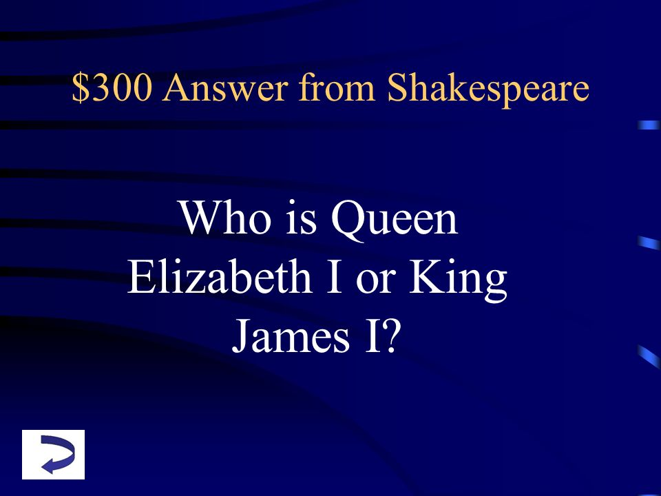 $300 Answer from Shakespeare