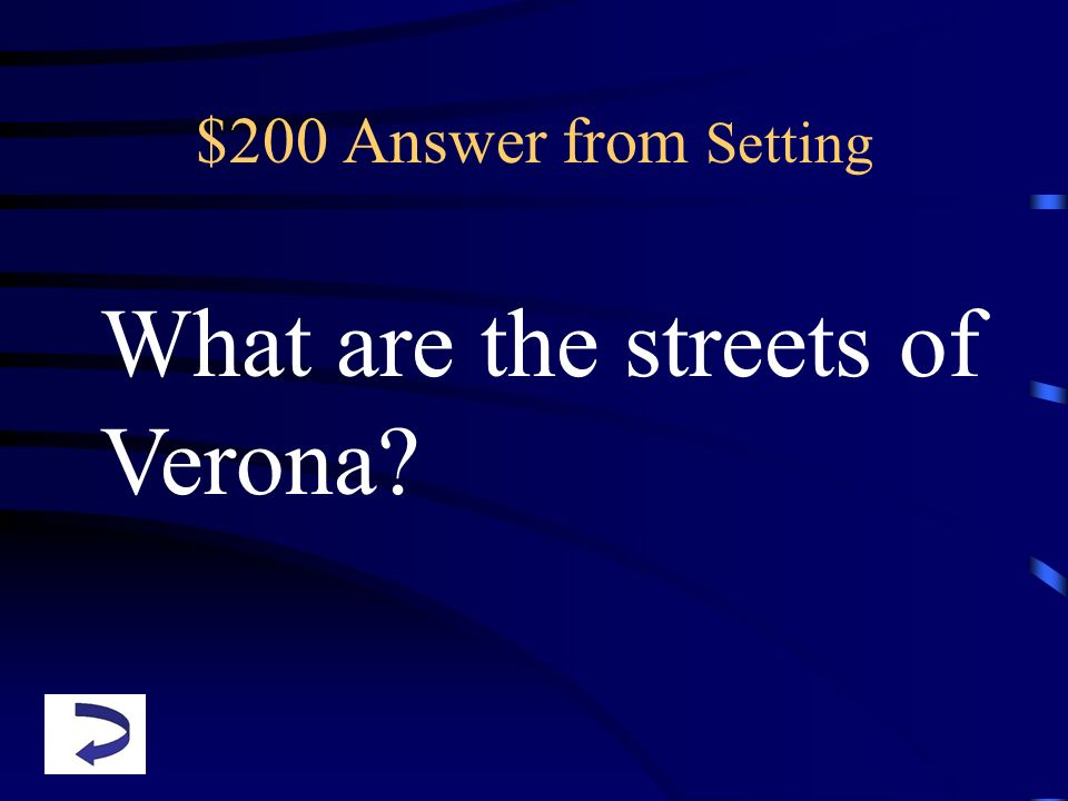 What are the streets of Verona
