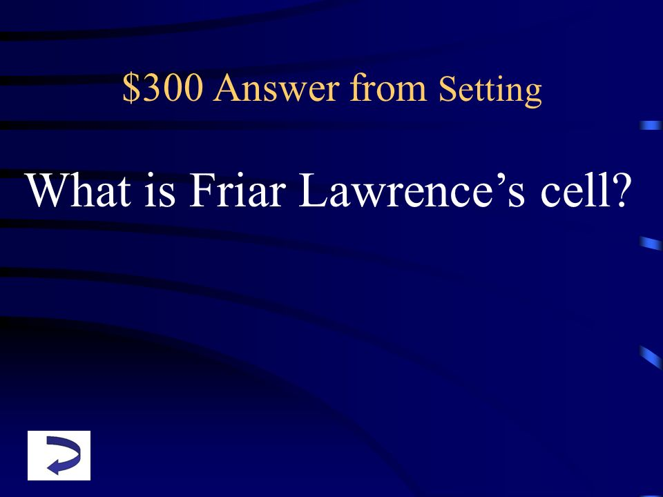 What is Friar Lawrence's cell