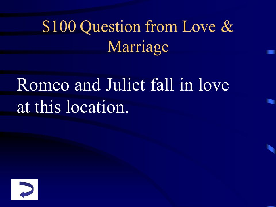 $100 Question from Love & Marriage