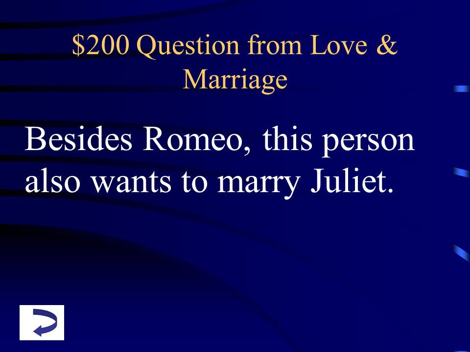 $200 Question from Love & Marriage