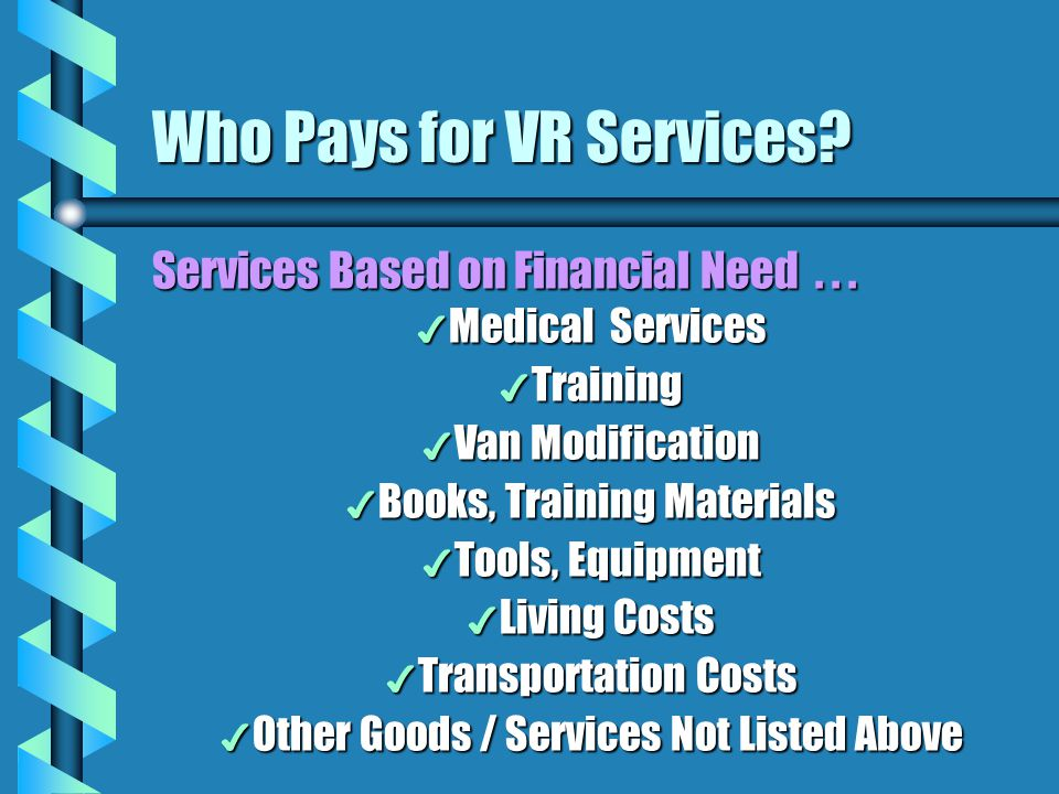 Who Pays for VR Services