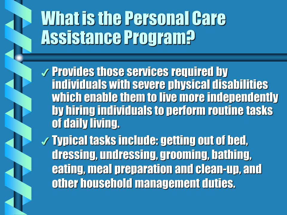 What is the Personal Care Assistance Program