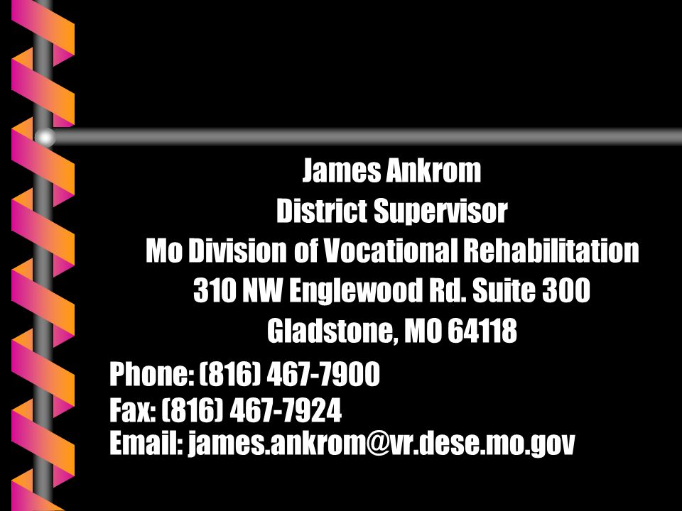 Mo Division of Vocational Rehabilitation