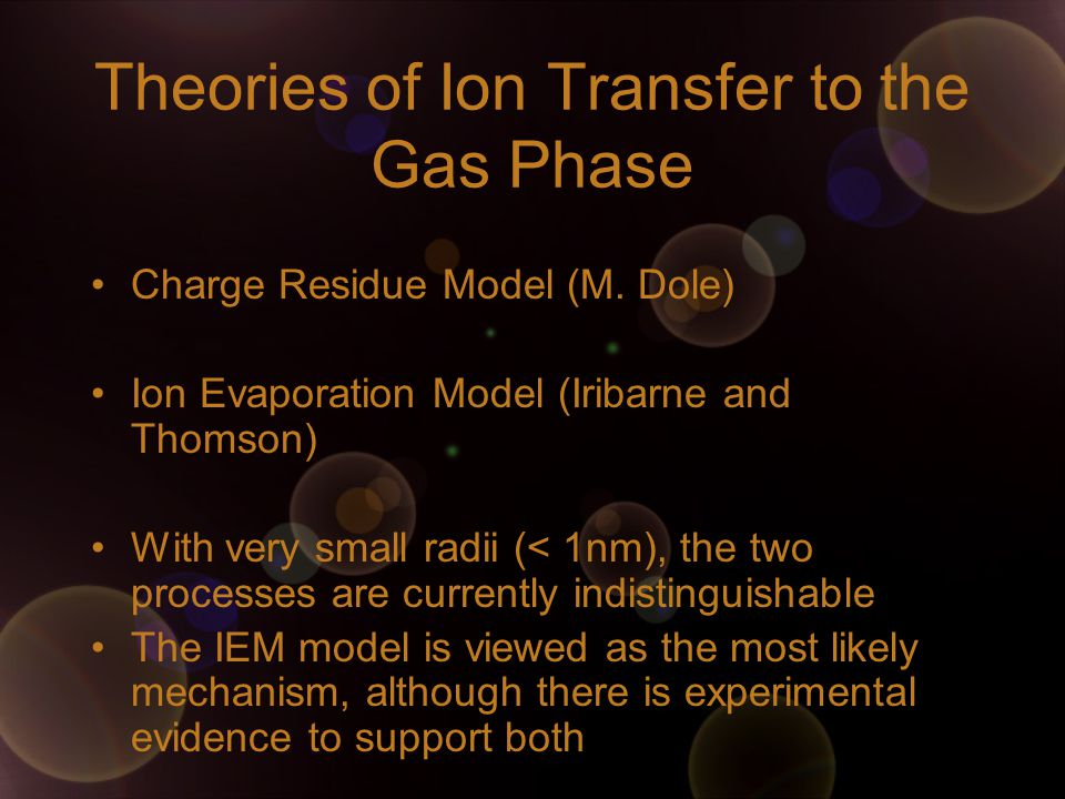 Theories of Ion Transfer to the Gas Phase