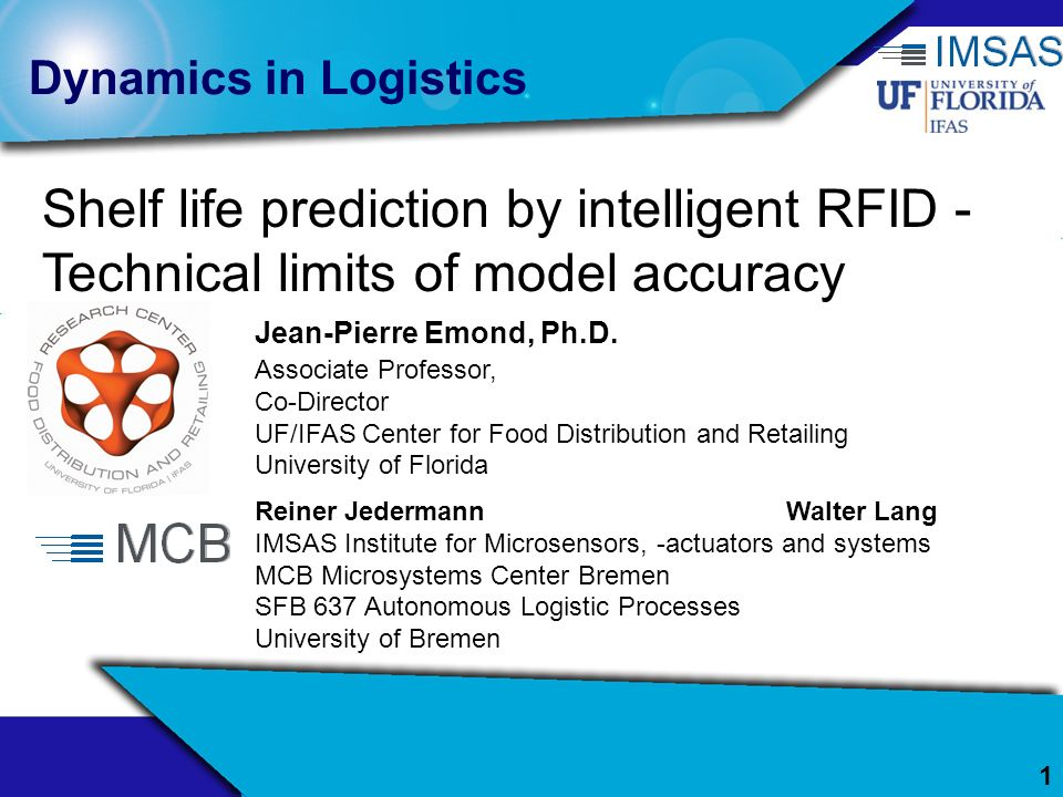 Shelf life prediction by intelligent RFID -