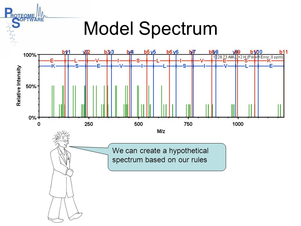 Model Spectrum We can create a hypothetical spectrum based on our rules.