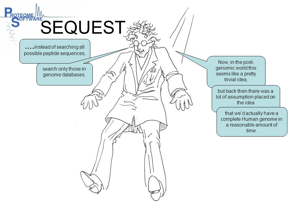 SEQUEST .…instead of searching all possible peptide sequences,
