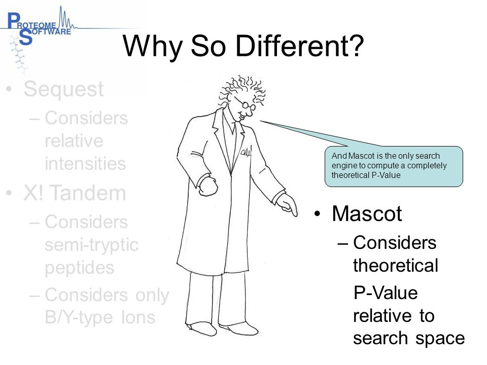 Why So Different Sequest X! Tandem Mascot