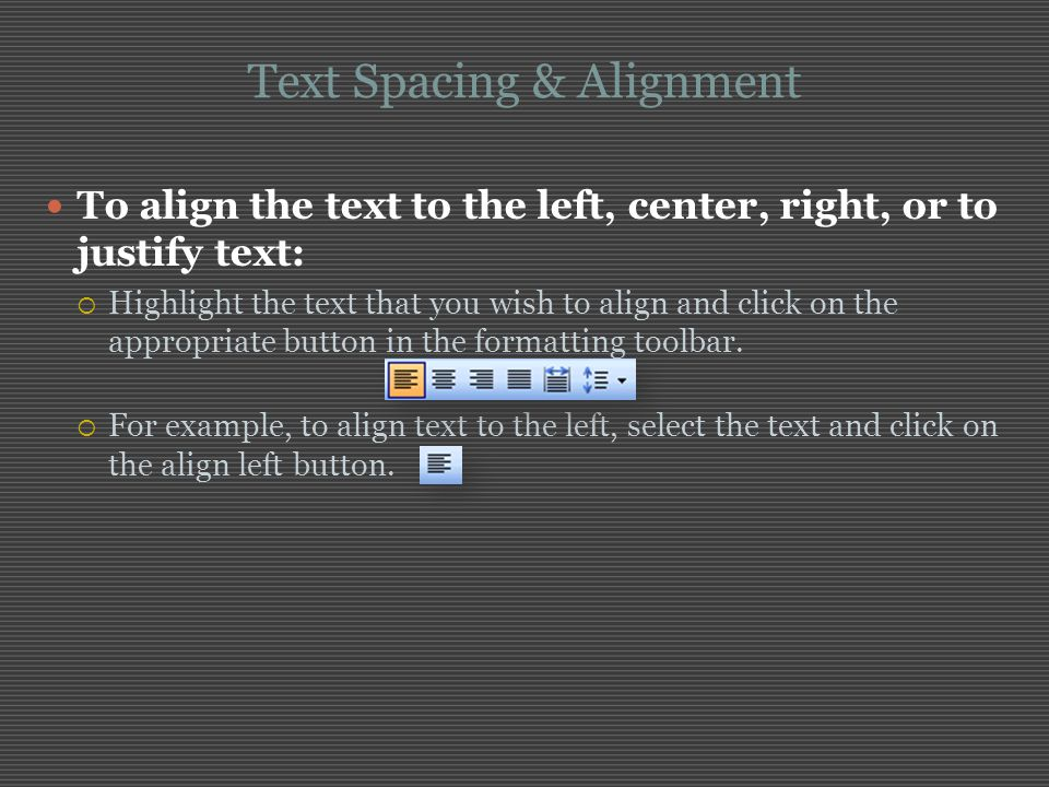 Text Spacing & Alignment