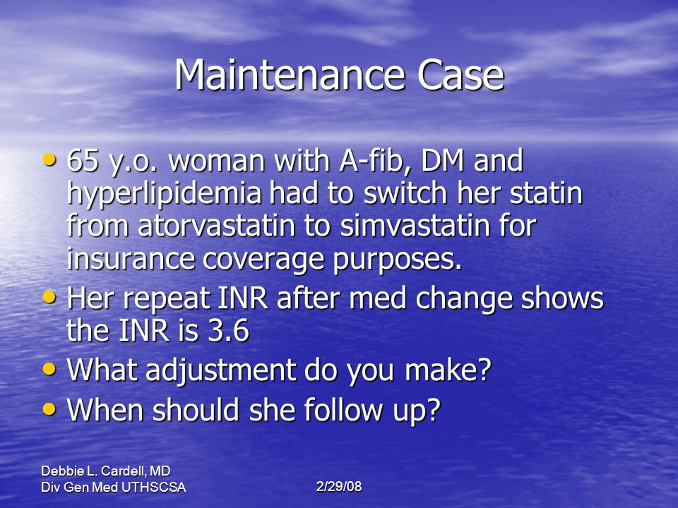 Maintenance Case