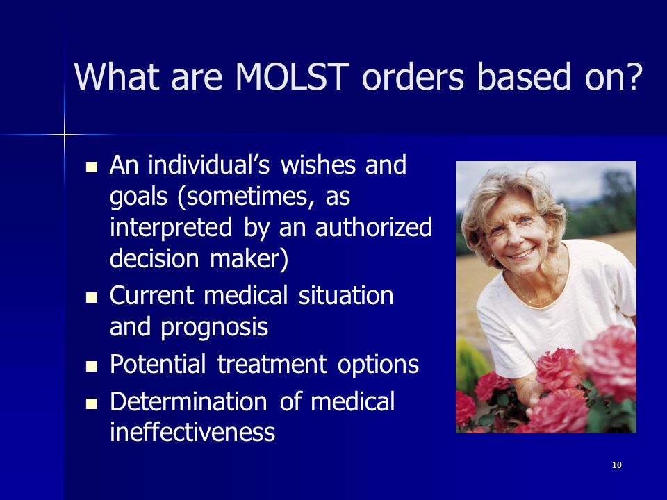 What are MOLST orders based on