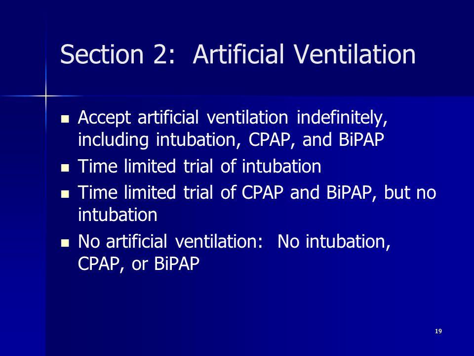 Section 2: Artificial Ventilation
