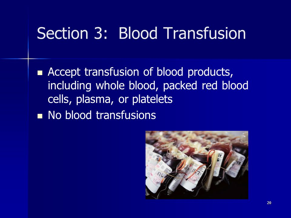 Section 3: Blood Transfusion