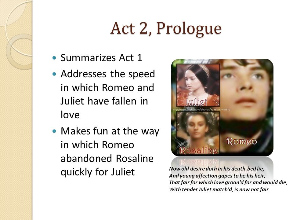 Act 2, Prologue Summarizes Act 1